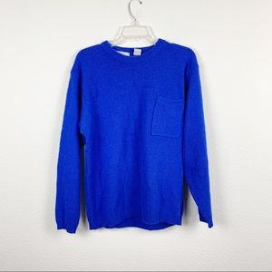 Vintage Blue Angora Lambswool Sweater A115